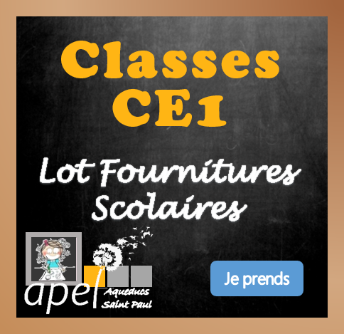 Lot Fournitures Scolaires Ecole CE1