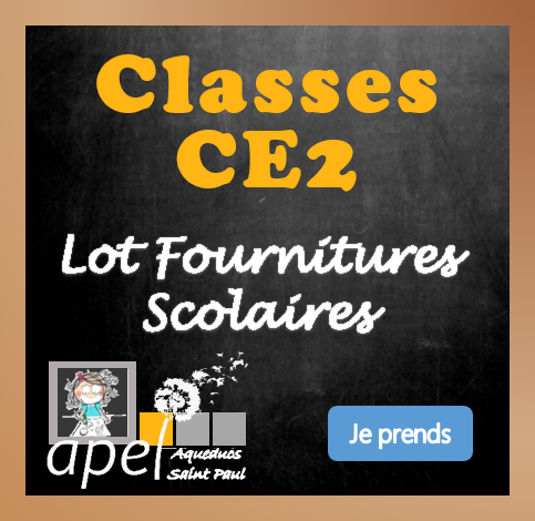 Lot Fournitures Scolaires Ecole CE2